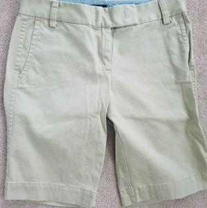 JCREW Khaki Bermuda Shorts